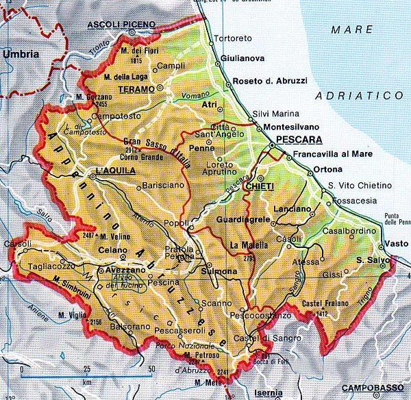 Informazioni sulla Regione Abruzzo