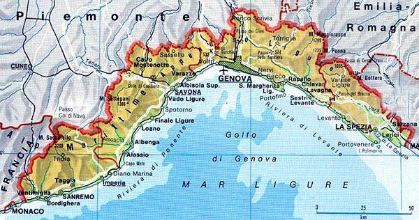 Cartina Liguria Con Province.Informazioni Sulla Regione Liguria